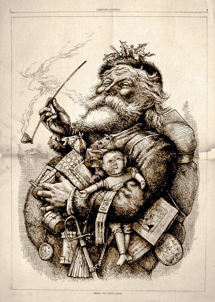 Nast drawing of Santa
