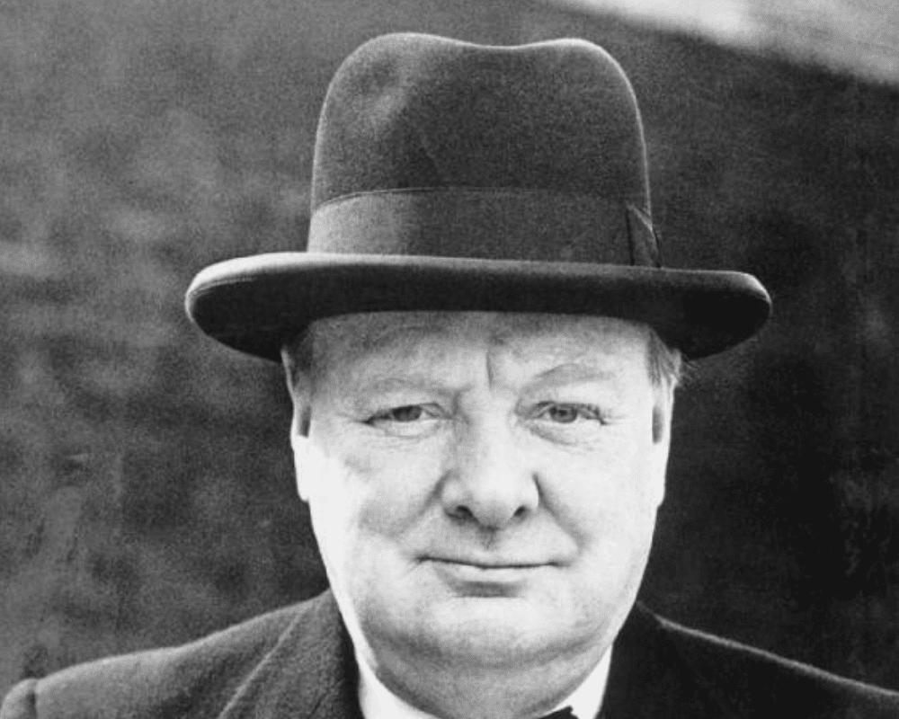 Churchill with Homburg hat