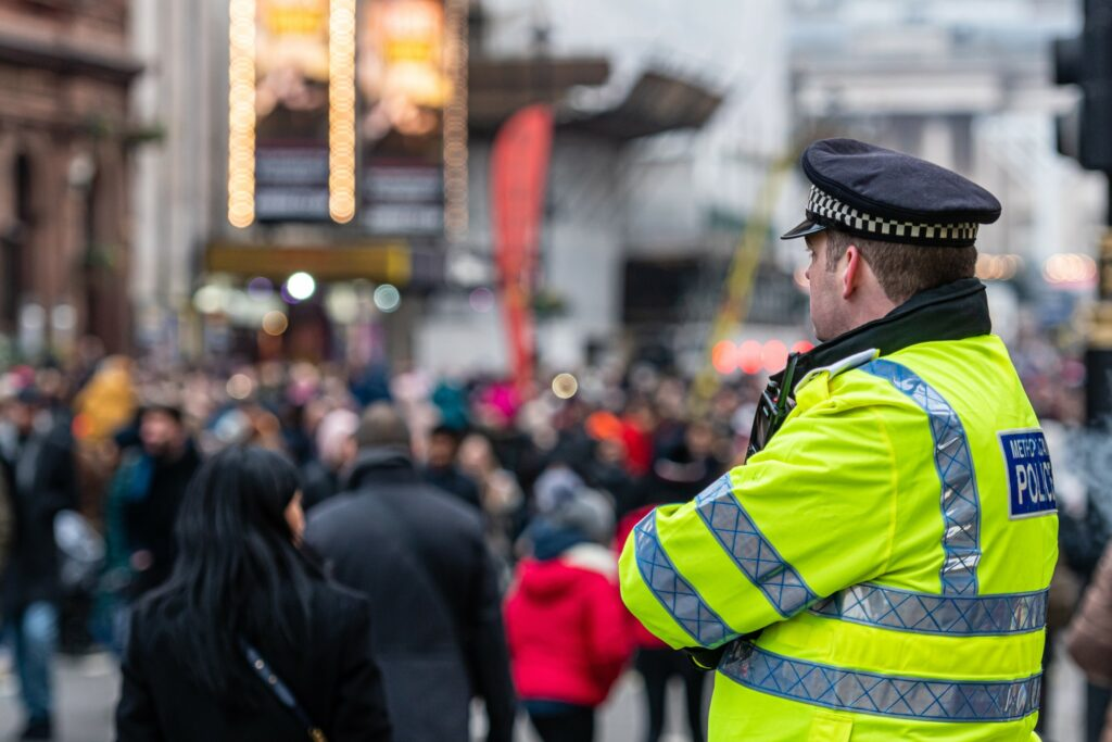 police officer wearing a hat