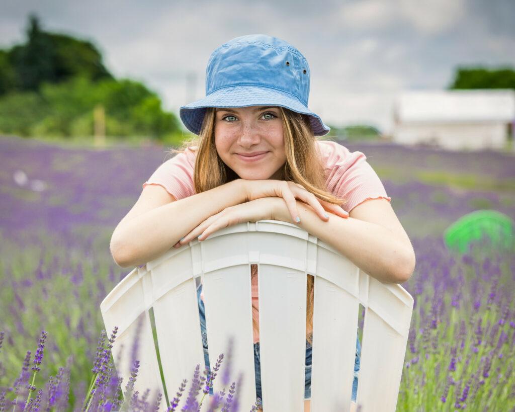 women smiling wearing a bucket hat