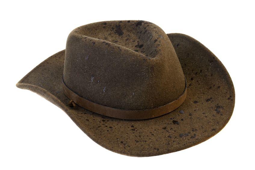 wet felt hat