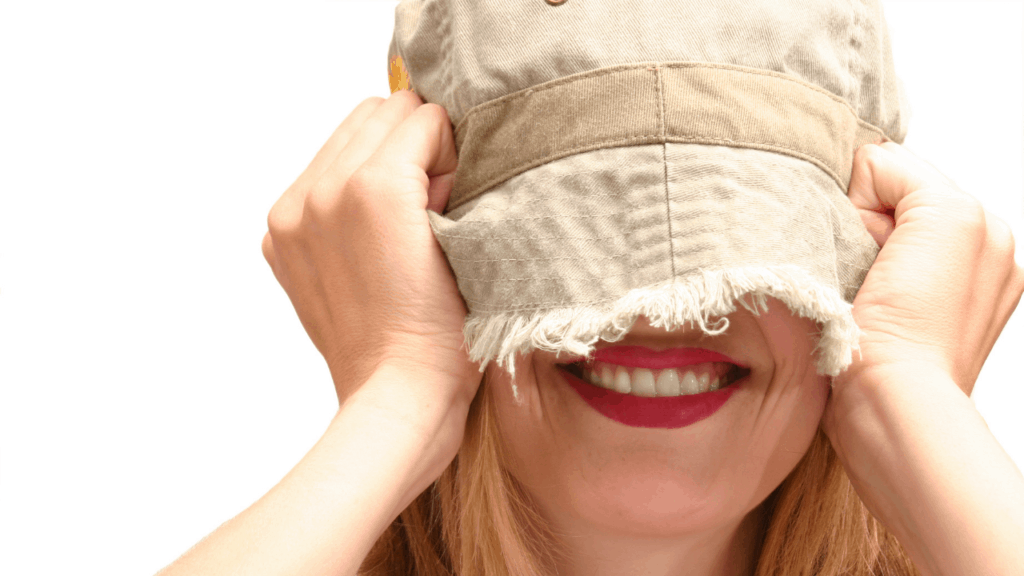 Hat over eyes