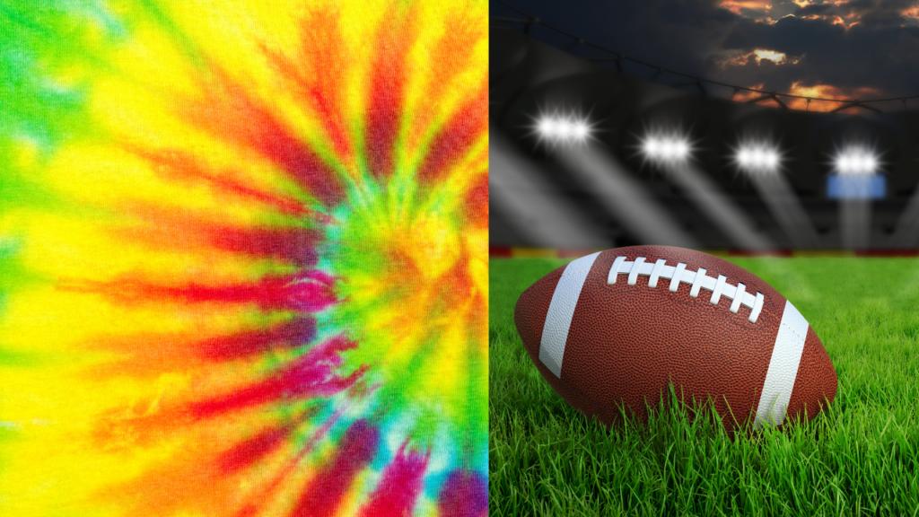 NFL tie-dye