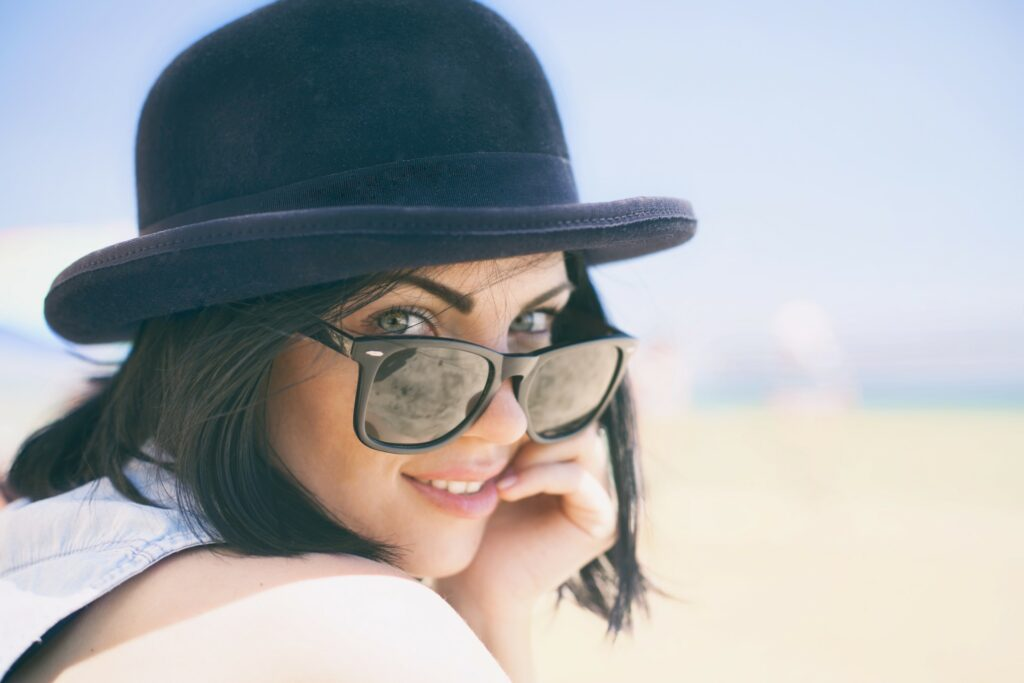 Women looking stylish in bowler hat