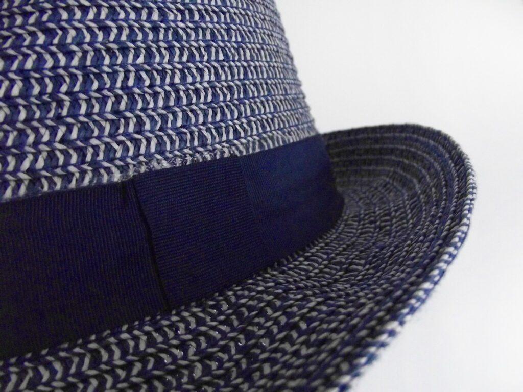 close up of hat brim